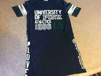 VS VICTORIA'S SECRET Pink University Athletics 1986 Tee T-Shirt, Sz XS Love Pink