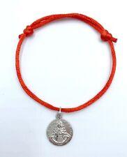 Pulsera hombre mujer roja medalla virgen del rocio nueva amuleto rociero patrona