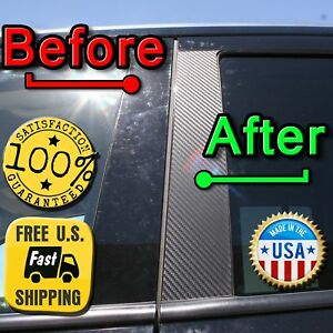CARBON FIBER Di-Noc Pillar Posts for Mazda Tribute 08-11 6pc Set Door Trim Cover