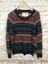 Koto Urban Outfitters Camping Sweater Tribal Aztec Multi Colored Print Mens Med