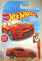 2018 Hot Wheels #50 Muscle Mania 8/10 '18 CAMARO SS Burnt Orange w/Chrome Trap5s