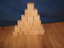 "unfinished wooden blocks, 40 wooden blocks, 1 1/2"" wood blocks, toy wooden block"