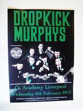 DROPKICK MURPHYS A3 POSTER, LIVERPOOL O2 ACADEMY, FEB 8, 2012