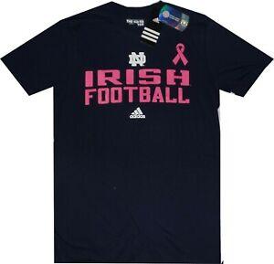 adidas Notre Dame Fighting Irish Pink Cancer Awareness Mens navy Shirt Clearance