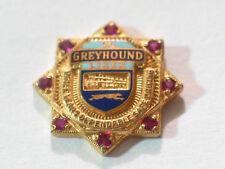 GREYHOUND Bus Lines Pin, 8 Rubies  3 Year Award , (#03A Bus)*(**)