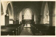 REAL PHOTOGRAPHIC POSTCARD SOBERTON CHURCH INTERIOR (NEAR PORTSMOUTH), HAMPSHIRE