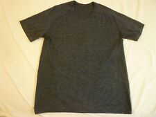 LULULEMON SS T-Shirt Men's L Dark Blue With Color Mix Great Condition FREE SHIP