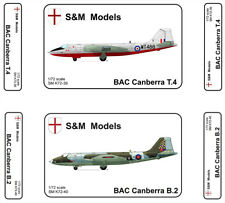 S & M Models - British Canberra T4  Bomber 1/72 Scale Plastic Model Kit.