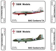 S & M Models - British Canberra B2 Bomber 1/72 Scale Plastic Model Kit.
