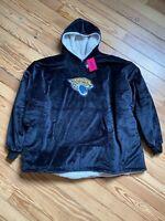 FOCO NFL Jacksonville Jaguars Black/White Reversible Sherpa Hoodeez Hoodie