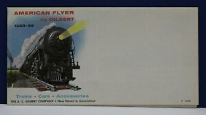 American Flyer 1958 Foldout Train Catalog 17x35 Poster No Imprint