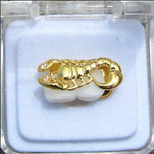 Grillz Grill Canine Cap Scorpion Hip Hop 14K Gold Plated DoubleTooth