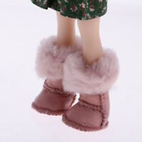 Pink Plush Winter Long Snow Boots Shoes for Blythe Doll Dress Up Accessory