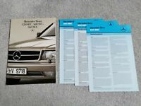 Mercedes-Benz 420 500 560 SEC UK Market Brochure 1986-1987 28 Pages +Spec Sheets