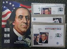 {BJ Stamps}  2006 Distinguished American Diplomats 7 FDC 1 Oversized  w/ poster