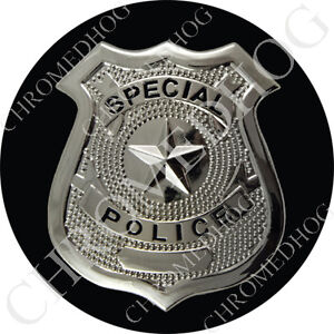 Premium Round 3M Epoxy Gel Domed Decal or Flat Sticker - Special Police Badge B2