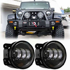 "4"" 30W Led Fog Lights White Halo Ring Angel Eyes for Jeep Wrangler JK 07-17"