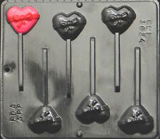 Heart with Bow Lollipop Chocolate Candy Mold Valentine 3024 NEW