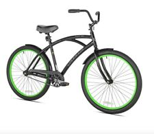"New 26"" Cruiser Men's Bike, Black/Green or other color"
