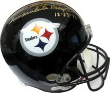 Franco Harris Immaculate Reception Autographed Steelers Full-Size Helmet - JSA