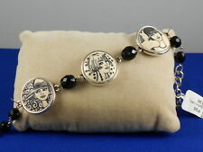 Brighton Silvertone NANETTE Blush Girl Medallion Beaded Bracelet JB5102 $62