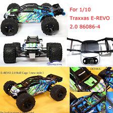 For 1/10 Traxxas E-REVO 2.0 TRX86086-4 RC Car Body Frame Roll Cage Wheelie Bar