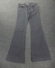 ANLO Smoky Gray Solid Cotton Blend Casual Low Rise Bootcut Jeans Size 28 DD8896