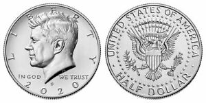 2020 P or D Kennedy Half Dollar US Mint Coin UNC