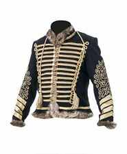 Napoleonic and Crimean Tunic - black wool gold frogging  - made to order