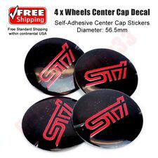 4 X Wheel Center Cap Sticker 56mm Subaru STI Impreza/WRX/Forester  (Free Ship)
