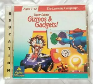 Super Solvers Gizmos & Gadgets by The Learning Company Ages 7-12 CD ROM 1997