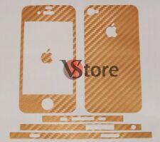 Skin Adesiva In Carbonio Per iPhone 4S + Pellicola Salva Schermo Fronte Retro O