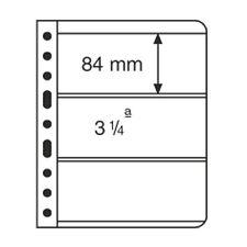 5 Pochettes plastiques VARIO, 3 compartiment transparent, Leuchtturm -Réf 319560