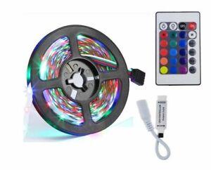 DC24V 5050 LED Strip 5m non waterproof 300Leds RGB Flexible Rope Lights + DRIVER