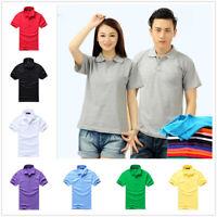 Men Women Couples Tee Soft Short Sleeve Simple Fit Shirt T-Shirt Casual Shirt
