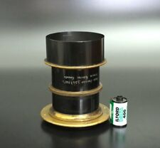 SUPERFAST !! Antique Petzval Portrait Brass Lens 260mm F3.8 wet plate 5x7 8x10