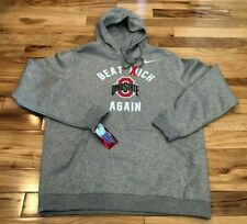 Nike Ohio State Beat Michigan Again Hoodie Grey Men's LARGE NWT