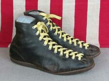 Vintage 1930s Wilson Leather Basketball Sneakers High Top Gym Shoes Boxing 8.5