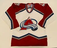 Vintage Kids Youth Boys CCM Colorado Avalanche Jersey Size L/XL Shirt Hockey NHL