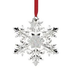 Lenox ~ 2016 Annual Snow Majesty Snowflake Silverplated Crystal Ornament ~ Nib