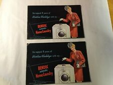 2 Vintage BENDIX Promotional Flyer