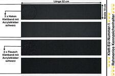2x TOP Kennzeichenhalter Nummernschildhalter KLETT-EU Rahmenlos 30 cm bis 52 cm