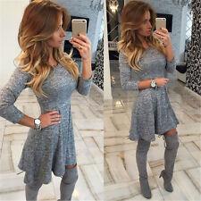 Women Bodycon Long Sleeve Dress Lady Party Evening Mini Dress Winter Dress