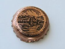 BEER Bottle Crown Cap: Non-Alcoholic Microbrew Soda; Mountains and Stream Design