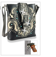 NEW 2017 Fall Decorative Wester Rhinestone Cross Concealed Carry Crossbody Sling