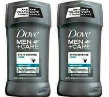 Lot of 2 Dove Men + Care Stain Defense Cool Antiperspirant 2.7oz Each 48 Hour