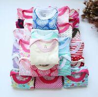 2Packs Newborn Baby Girl/Boy Jumpsuit Romper cotton Bodysuit Infant Clothes 0-6M