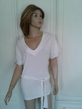 GEORGE CREAM V NECK TOP SIZE 12 BNWOT