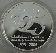 UNITED ARAB EMIRATES 50 Dirhams 2004 Silver Sharjah For Humanitarian Service