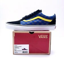 Vans Old School (OTW Rally) Mens Size 9.5 Red Blue Checkerboard Skate Shoes